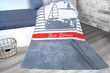 Koc 150x200 Sea Stories Greno Glamour